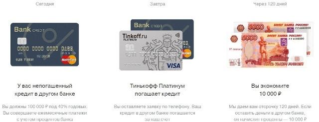Условия кредитной карты Тинькофф банка 120 дней