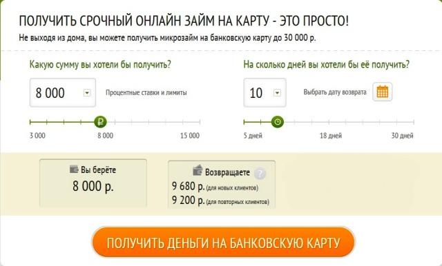 МаниКлик оформить онлайн заявку на займ