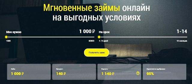 Онлайн заявка на займ Zaim 365