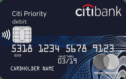 Citibank - дебетовая карта Citi Priority